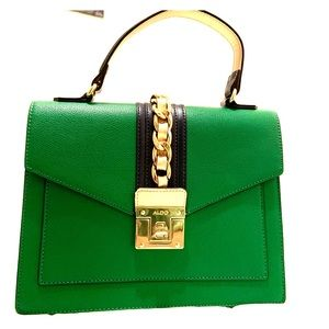 Aldo green stylish handbag